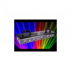 location Laser 5 têtes rouge, verte, jaune,bleu et rose qui projettent plus de 128 motifs Vannes