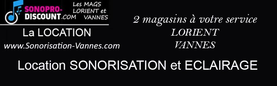 Location sonorisation et éclairage à Vannes - Sonopro-Discount Vannes (56)